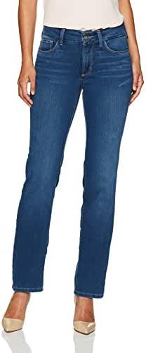 NYDJ Women's Petite Size Marilyn Straight Leg Jeans in Future Fit Denim