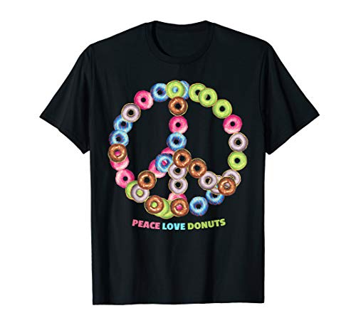 Peace Love Donuts Tee for Bakers, Pastry Chef, Culinary Pros