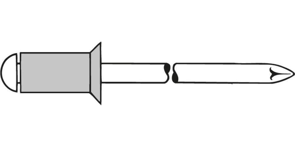 Gesipa Blind Rivets Aluminium/Steel 3 x 8 Countersunk Heads, Pack of 500 0/2901/000/   3 0/    8/     /01