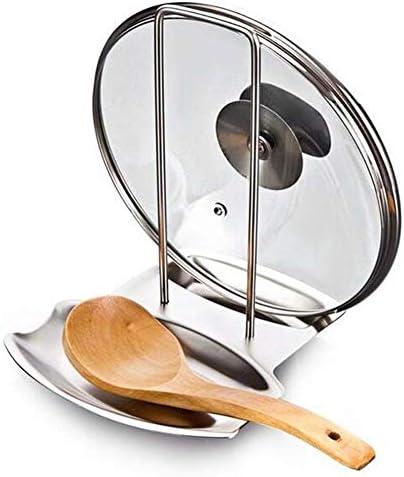 1個ステンレスキッチンアクセサリーシェルフの台所鍋のふた主催パンふたラックスタンドスポンジスプーン食器棚 (Envío desde : Shelf)