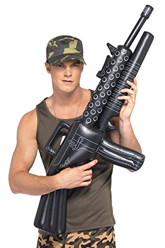 Smiffys Inflatable Machine Gun, Black, One Size -