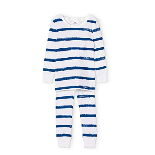 - aden + anais Kids' Toddler Cotton Pajamas, Navy Stripe, 12 Months