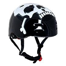 Skull & CrosSport Direct™ BMX / Skate Bicycle Cycle Helmets Bone Medium 55-58cm CE EN1078 TUV Approvals