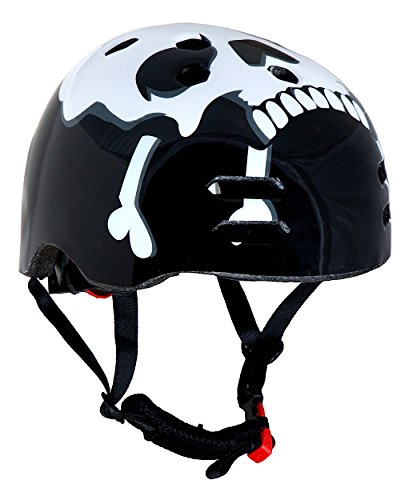 Sport DirectTM BMX / Skate Fahrrad-Helm Motiv Totenkopf 56-58cm
