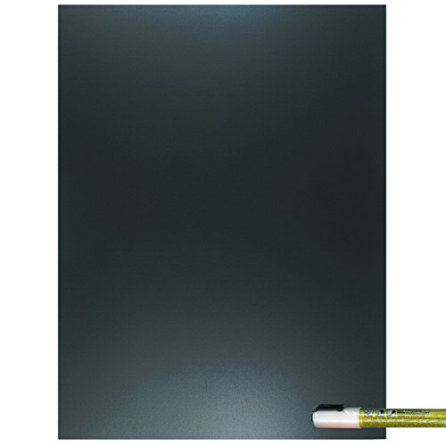(Cohas Eco Chalkboard includes 1 Unframed Blackboard and Liquid Chalk Marker, 12 x 16 Inches Each, White Marker)