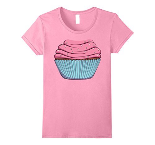 Womens Cupcake Costume T-Shirt for Halloween Cupcake Pastry Cosplay Large Pink