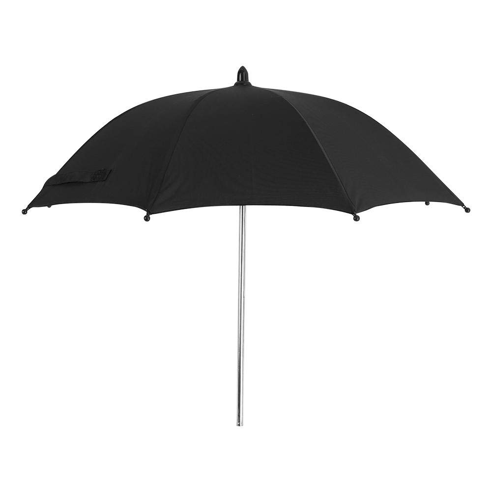 Stroller Umbrella Wheelchair Pushchair Plastic Baby Stroller Umbrella and Holder with Mental Parasol UV Rays Rain Sun Canopy Sun Shadow Shade Baby Cart Umbrella with Clip for Protecting Babies by GOTOTOP (Image #8)