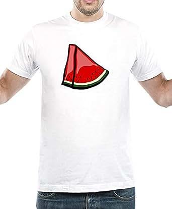 IngraveIT White Cotton Round Neck T-Shirt For Men