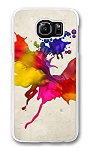 Colors Spray Polycarbonate Hard Case Cover for Samsung S6/Samsung Galaxy S6 Transparent