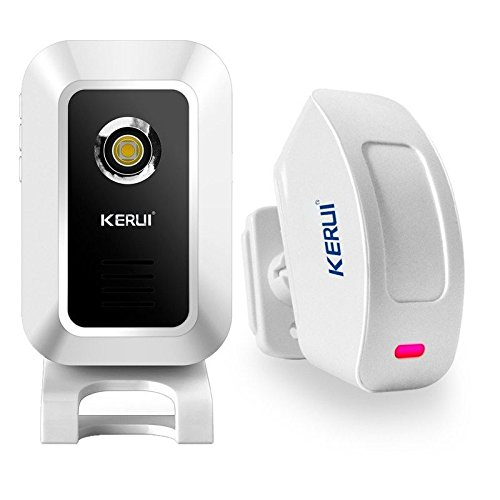 KERUI Wireless Split Welcome Motion Sensor Alert Alarm System Doorbell with Long Range Receiver and Transmitter. Home or Office Security Protection for Front Doors, Entryways, Garages, Alleyways, Stockrooms and Warehouses