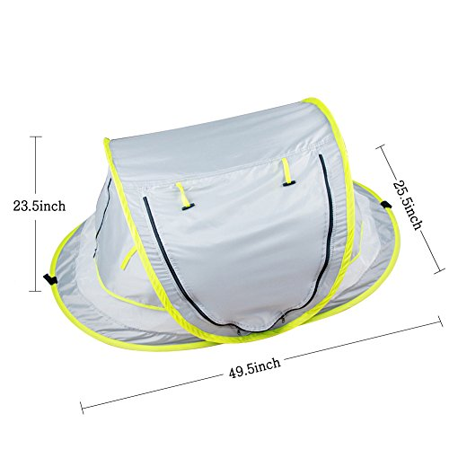 Baby Beach Tent, Portable Baby Travel Bed UPF 50+ Sun Shelters for Infant , Pop Up Mosquito Net with 2 Pegs Sunshade Ultralight Weight by Aiernuo (Image #2)