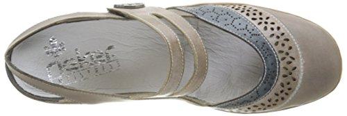 Rieker 47185-42, Flangia Posteriore Donna, Grigio (Steel/Steel/Royal), EU