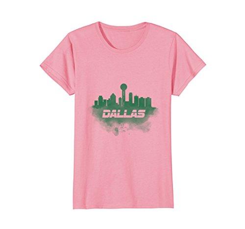 - Womens Dallas skyline T Shirt XL Pink
