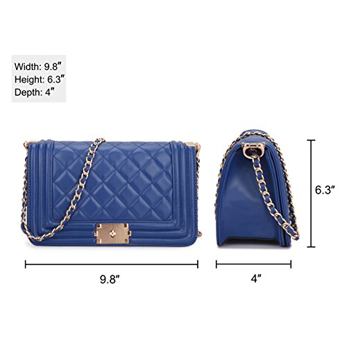Pictures of Dasein Women's Designer Quilted Crossbody Bags 6