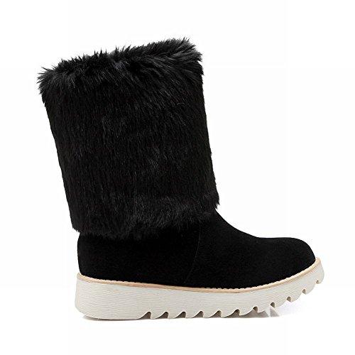 Fashion Carolbar Winter Cute Cold Bows Snow Womens Warm Gift Black Boots Christmas Comfort Weather a4apIwq