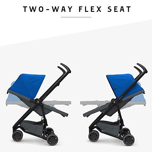 Two-Way Reclining Seat 6 Months to 3.5 Years Black on Black Flexible and Compact Quinny Zapp Flex Plus Urban Pushchair