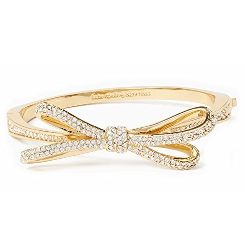 Kate Spade Tied Up Pave Bow Bangle, Golden