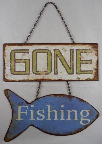 GONE Fishing Sign - Gone Fishing Sign