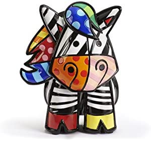 Romero Britto 3 Dimensional Zebra Figurine with Certificate of Authenticity