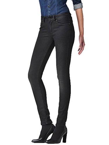 G-Star Damen Jeans 3301 Contour Damen High Waist Skinny Jeans - Blau - Dark Aged, Größe:W 34 L 30;Farbe:Dark Aged (89)
