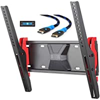 Mounting Dream MD2711 TV Wall Mount Tilting Bracket for Most 26-55 Inch LED, LCD and Plasma TVs up to VESA 400 x 400mm and 77 LBS Loading Capacity, 6 FT HDMI Cable and Bubble Level