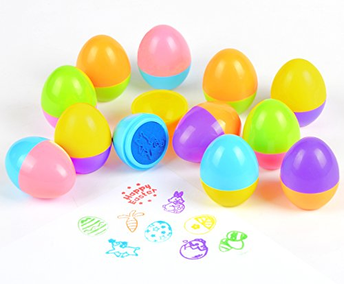 Joyin Toy 12 PCs Easter Egg Stampers Great for Easter Eggs H