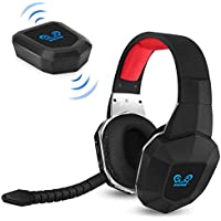 HUHD Wireless Stereo Gaming Headset 2.4GHz Optical Game...