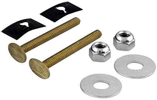 6 Pack Lincoln 100850 2-1/4'' Brass Toilet Bolts by Lincoln Electric
