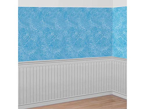 Winter Room Roll Wonderland (Christmas Decoration Snow Flurries Wall Scene Setter | Plastic)
