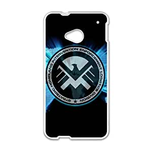 HTC One M7 Cell Phone Case White s.h.i.e.l.d FSL