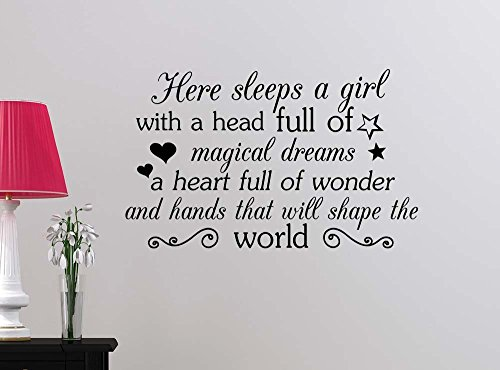 sleeps magical lettering motivational inspirational product image