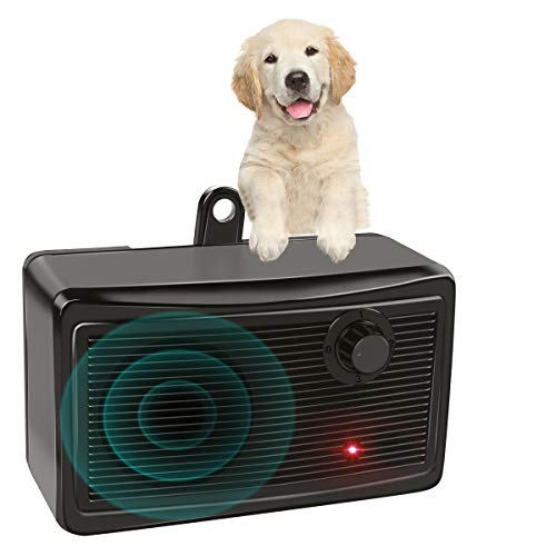 W-Dragon Bark Control Device, Upgraded Mini Bark Control Device Outdoor Anti Barking Ultrasonic Dog Bark Control Sonic…