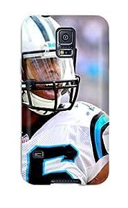 High Grade DanRobertse Flexible Tpu Case For Galaxy S5 - Carolina Panthers