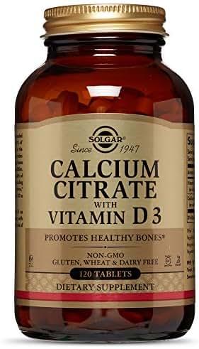 Calcium Citrate with Vitamin D Solgar 120 Tabs