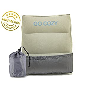 Adjustable Inflatable Foot Leg Rest Travel Pillow Bed Relax on Long Flights, Travel Pillow for Kids Sleeping and Resting Feet In Car/Plane, Outdoor/Camping AirTravel Pillow, Small for Airline Seat
