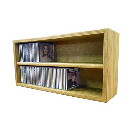 Cdracks Media Furniture Solid Oak Desktop or Shelf CD Cabinet Capacity 124 CD's Honey Finish
