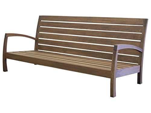 Timbo Vila Rica Hardwood Outdoor Patio 3 Seat Loveseat, Loveseat, - Hardwood Loveseat