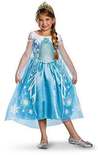 Girls Disney Frozen Elsa Deluxe Costume, X-Small/3-4 (Frozen Costumes Toddler)