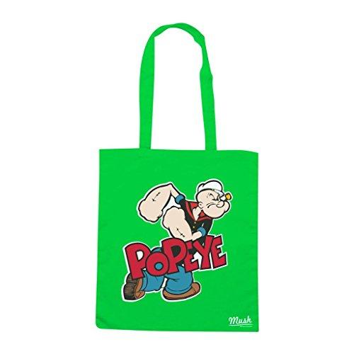 Borsa Popeye - Verde prato - Cartoon by Mush Dress Your Style