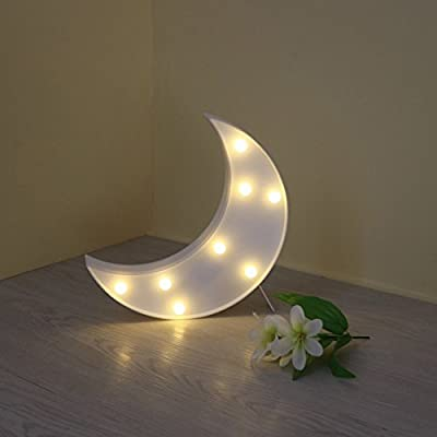 YiaMia 3D LED Cute Butterfly Star Moon Night Light Decorative Table Lamp For Bedroom Festival Christmas Decoration Kid's Gift