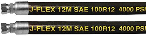 JGB Enterprises SW-2112-22D J-Flex 12M SAE 100R12 Hydraulic Hose, 3/4