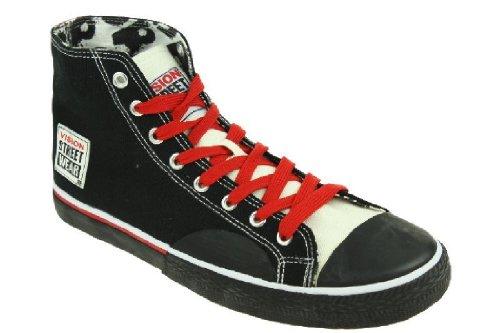 99U1 Vision Street Wear Canvas Hi Herren Sneaker Freizeit Schwarz Gr. 8 UK 42