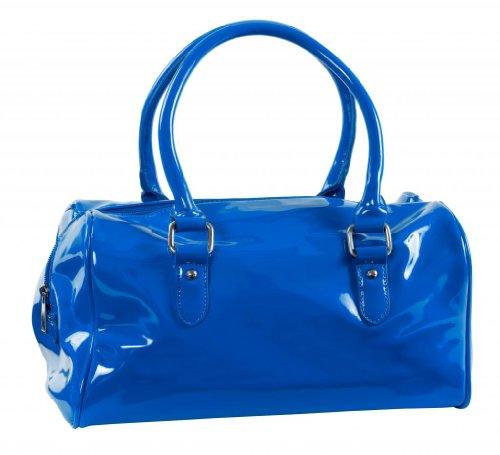 MCM M y C de las mujeres | moda vinilo Small Duffle–Bolso de | hb1050 Azul