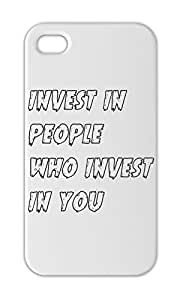 invest in people who invest in you Iphone 5-5s plastic case