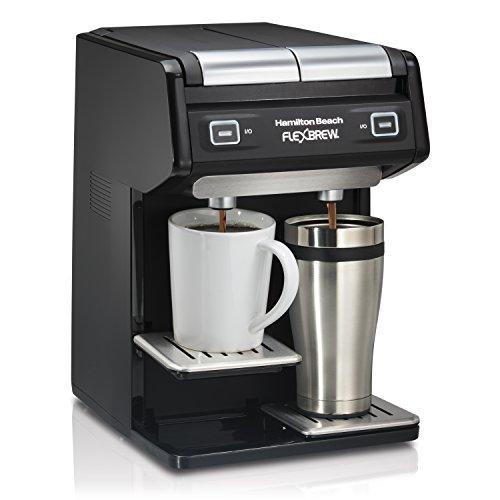 - Hamilton Beach 49998 FlexBrew Dual Single Serve Coffee Maker, Black