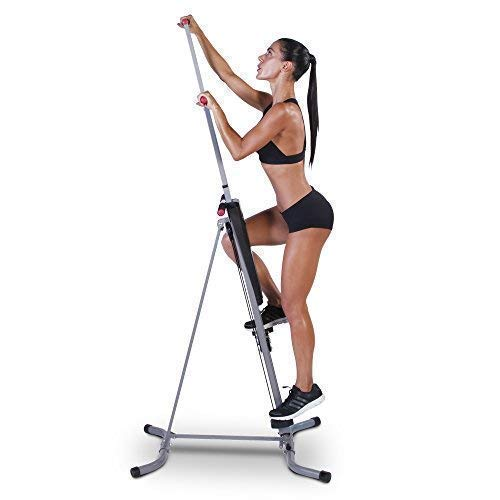 r As Seen On TV - The Original Patented Vertical Climber MaxiClimber Full Body Workout with Bonus Fitness App for iOS and Android Renewed