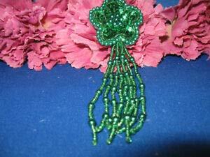 Sequin Pearled Beaded Flower Epaulet Applique ()