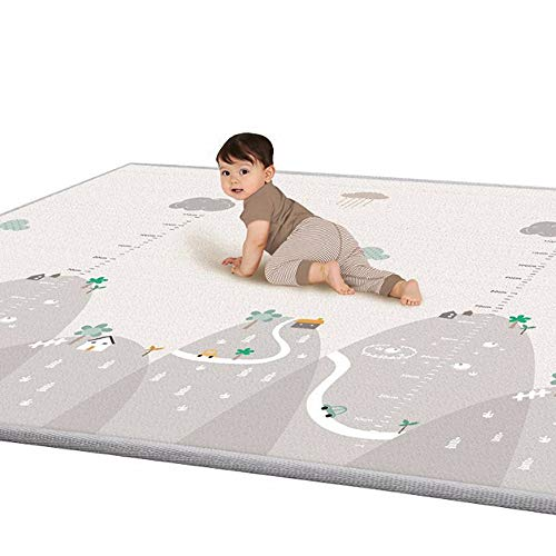 Baby Play Mat Thick Baby Crawling Mat Non-Toxic Double-Sided Waterproof Silk LDPE Antiskid Children Play Mat Carpet for Baby Toddler Kids, Extra Large 79