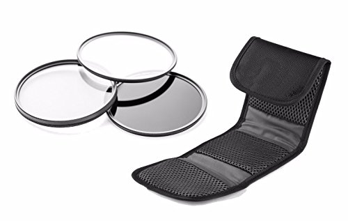 Nikon D3400 High Grade Multi-Coated, Multi-Threaded, 3 Piece Lens Filter Kit (58mm) Made By Optics + Nw Direct Microfiber Cleaning Cloth. by Digital Nc