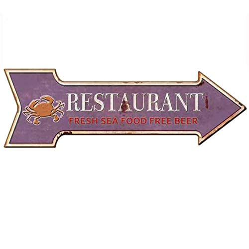 HANTAJANSS Road Signs Retro Restaurant Signs for Wall Decoration